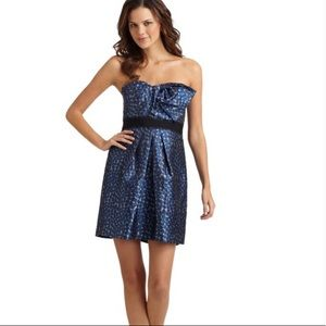 BCBGMAXAZRIA Blue polka dot dress